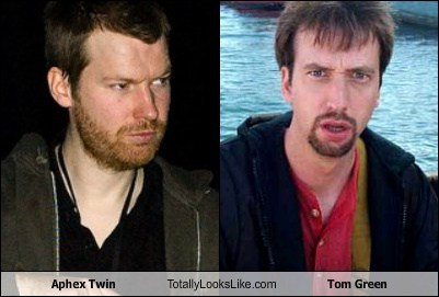 beard,Aphex Twin,totally looks like,Tom Green,funny