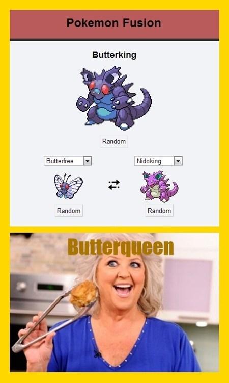 Pokémon,butterqueen,paula deen,funny