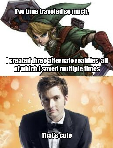 link,doctor who,time travel,zelda,funny