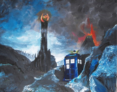 Lord of the Rings crossover Fan Art doctor who - 7726037760