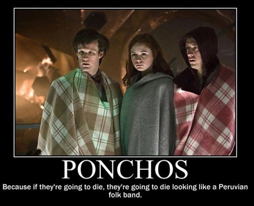 doctor who poncho peruvian folk band 11th Doctor poorly dressed g rated - 7726114304