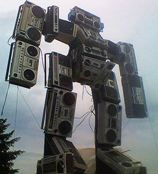 soundwave wtf boombox boombox robot funny