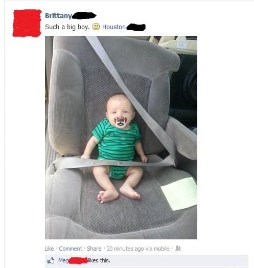 Babies,FAIL,parenting,seatbelts