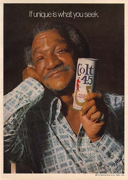 colt 45,ads,red foxx,unique,funny