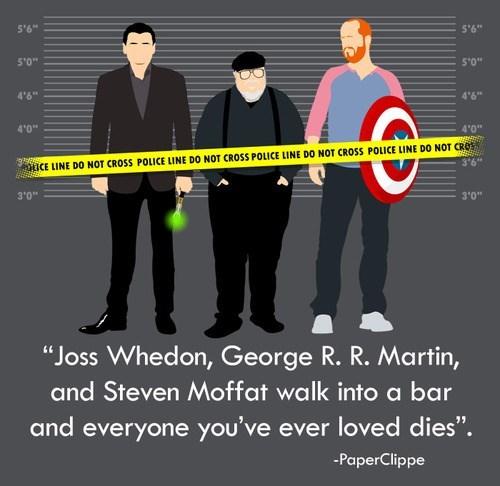 George RR Martin for sale Joss Whedon Steven Moffat - 7726619136