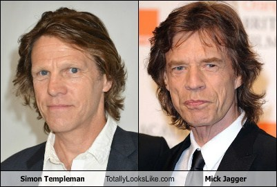 mick jagger,totally looks like,simon templeman,funny