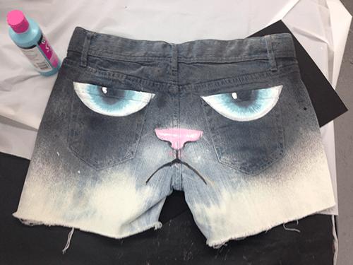 shorts Grumpy Cat design funny - 7726718464