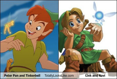 link peter pan totally looks like navi tinkerbell funny