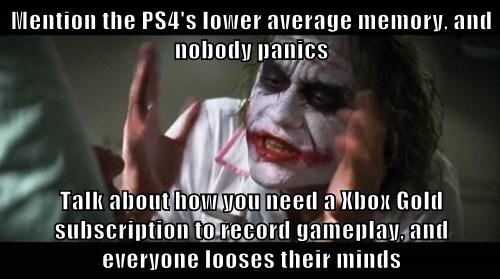 PlayStation 4,everyone loses their minds,xbone