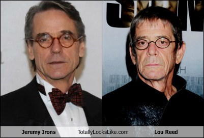 Lou Reed glasses totally looks like funny Jeremy Irons