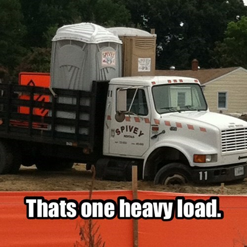 heavy load.