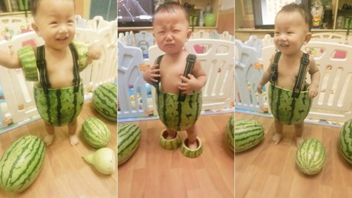 Babies,wtf,watermelons,funny
