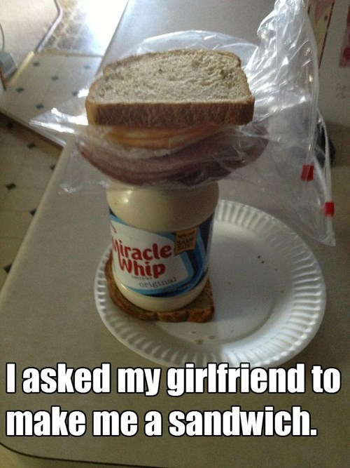 girlfriend,sandwich,prank,funny