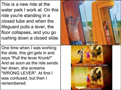 quotes,the-emperors-new-groove,funny,water park,g rated,win
