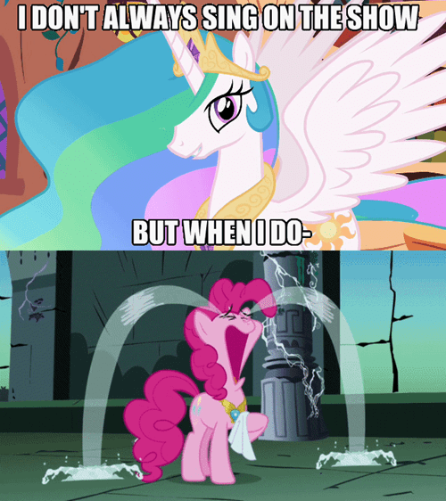 singing pinkie pie tears celestia - 7728437248