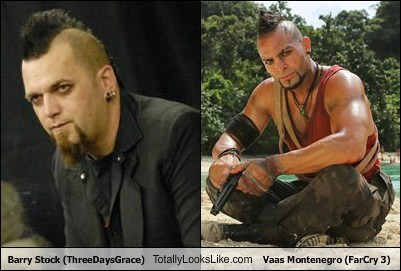 barry stock,mohawks,totally looks like,far cry 3,vaas montenegro,funny