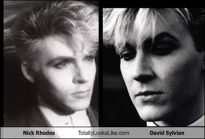 nick rhodes,david slyvian,totally looks like,Japan,funny