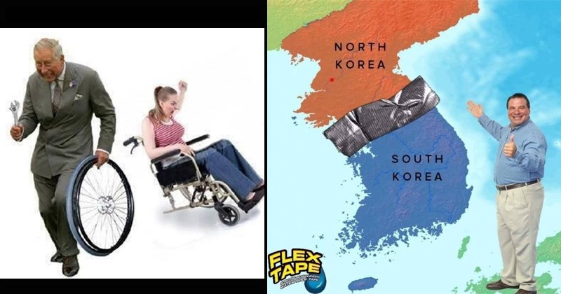 bring the two koreas together with flex tape