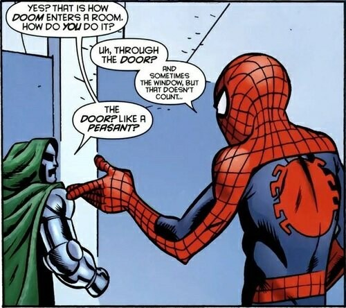Spider-Man doom off the page - 7729892864