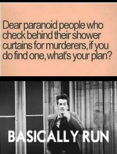 paranoia,slippery,funny