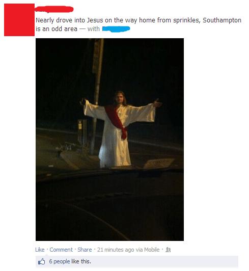 Running over Jesus