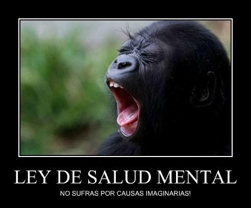LEY DE SALUD MENTAL NO SUFRAS POR CAUSAS IMAGINARIAS!