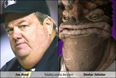 joe west,dexter jettster,baseball,totally looks like,funny