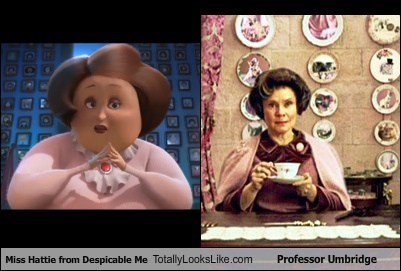despicable me,totally looks like,professor umbridge,miss hattie,funny
