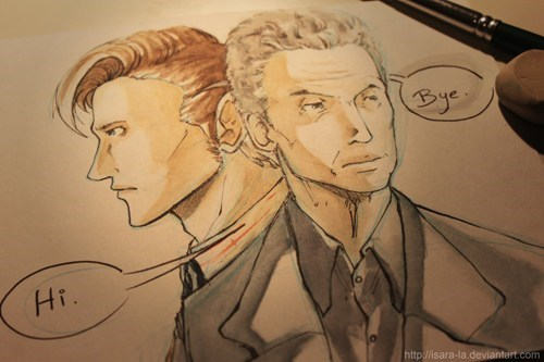 Fan Art 12th Doctor 11th Doctor doctor who - 7730577920