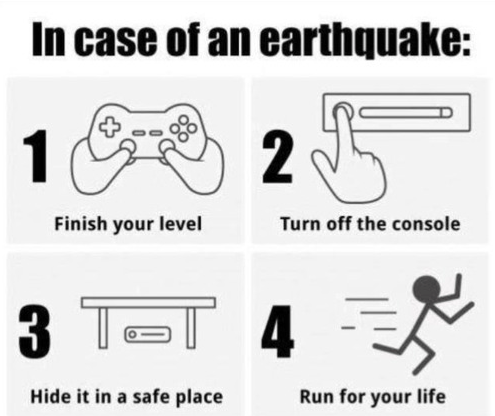 gaming earthquakes safety - 7731229696