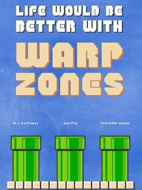 warp zones,life,Super Mario bros