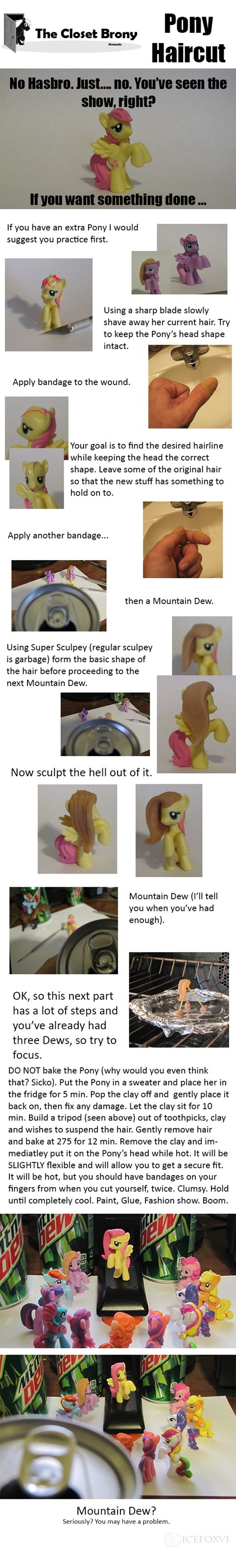 pony haircut Hasbro tldr - 7731323904