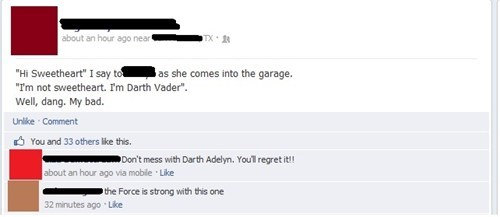kids parenting facebook funny darth vader g rated - 7731731968