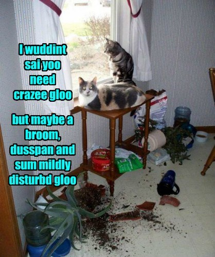 crazy glue,mess,funny