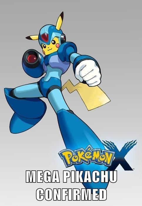 crossover mega pikachu mega man pikachu - 7732262912