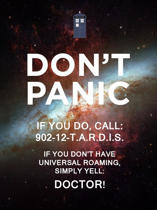 crossover doctor who the hitchhikers guide to the galaxy dont-panic - 7732291072