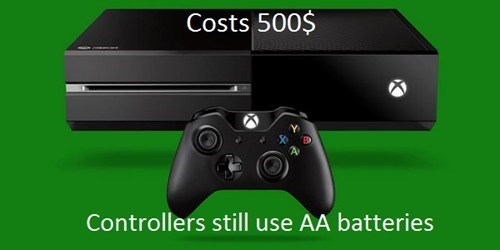 batteries,microsoft,xbox one
