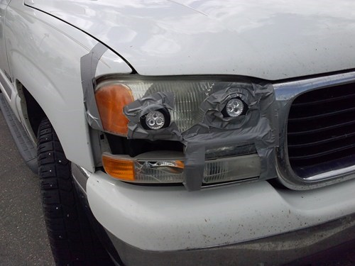 headlights,cars,duct tape,funny,there I fixed it