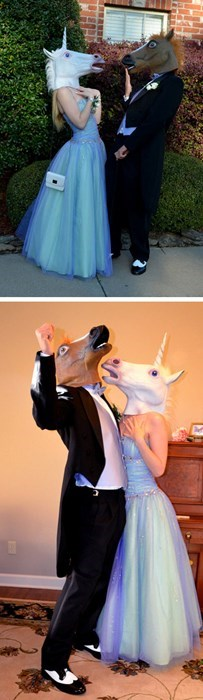 marriage,masks,horse