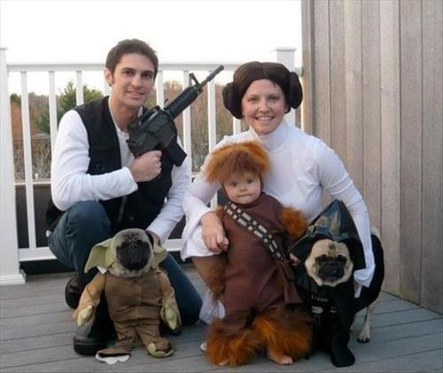 cosplay,leia,chewbacca,han,family