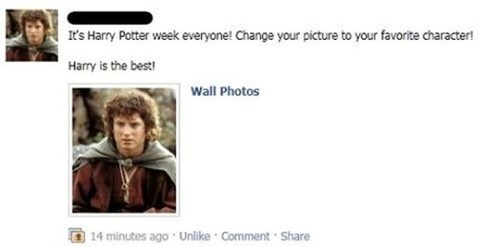 frodo,Harry Potter,Lord of the Rings,Frodo Baggins,facebook