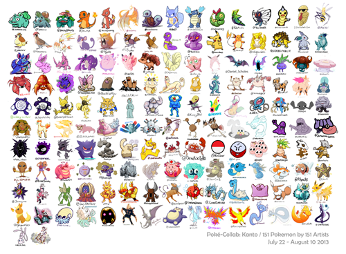 152 drawn by !51 artists