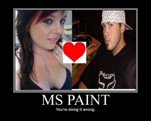 bad ms paint love idiots funny - 7732996096
