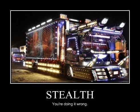 stealth wtf lights truck funny - 7733013760