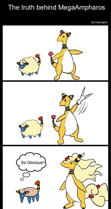 Pokémon,comics,mega ampharos