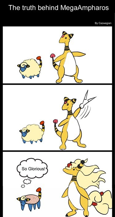 Pokémon comics mega ampharos - 7733052928