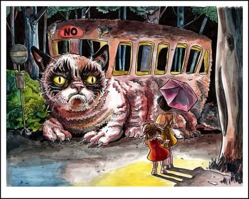 Grumpy Cat,catbus,funny