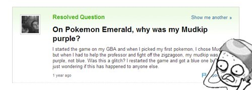 mudkip,shinies,yahoo answers