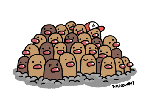 Pokémon art dugtrio diglett wednesday - 7733079552