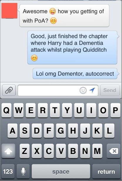 autocorrect,Harry Potter,text,funny,g rated,AutocoWrecks